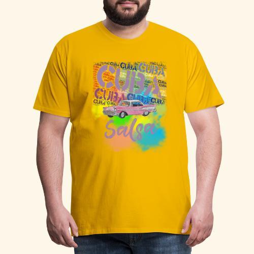 Salsa Havana Cuba vintage T-shirt for dancers - Men's Premium T-Shirt