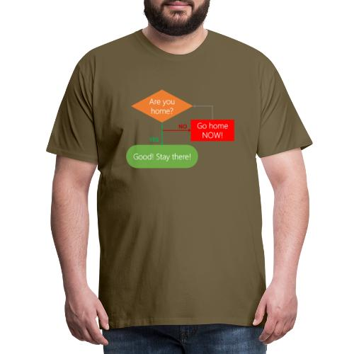 Are you home? - Men's Premium T-Shirt