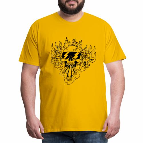 Skull on Fire - Männer Premium T-Shirt