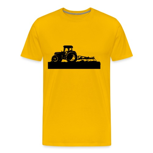 Tractor with cultivator - Men's Premium T-Shirt