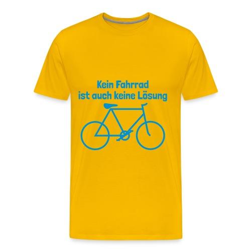 Kein Fahrrad - Men's Premium T-Shirt