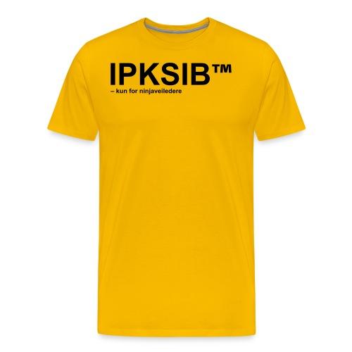 ipksip black - Premium T-skjorte for menn