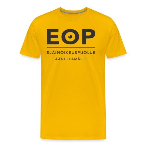 EOP Logo slogan musta - Miesten premium t-paita