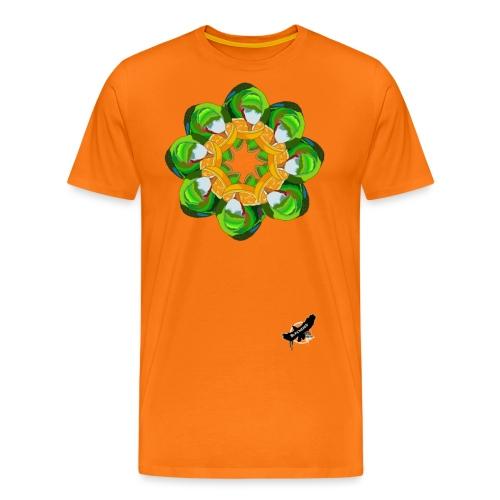 Parrot Pattern by BlackenedMoonArts, w. logo - Herre premium T-shirt