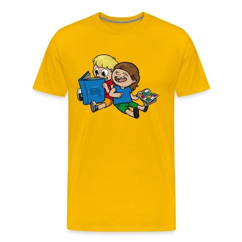 Kinder, lest mehr Bücher und Comics! - Männer Premium T-Shirt