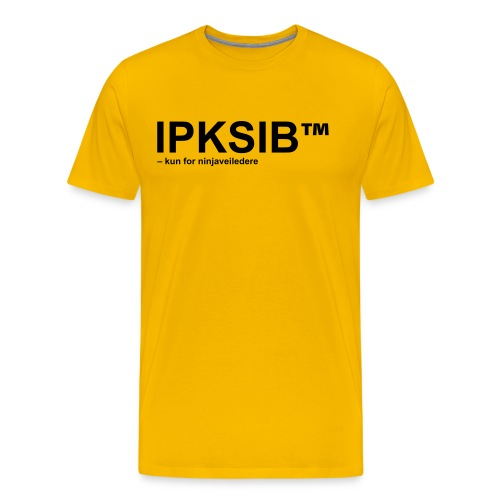 ipksip black - Premium T-skjorte for menn