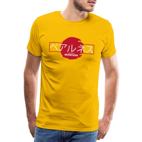 Japan Collection : T-shirt Bearūnesu White - T-shirt Premium Homme