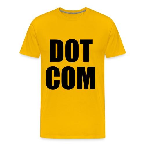 dotcom sort - Herre premium T-shirt