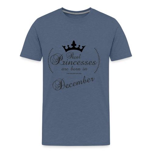 Real Princesses black December - Männer Premium T-Shirt