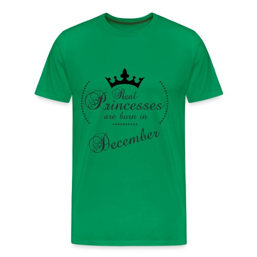 Real Princesses black December - Männer Premium T-Shirt