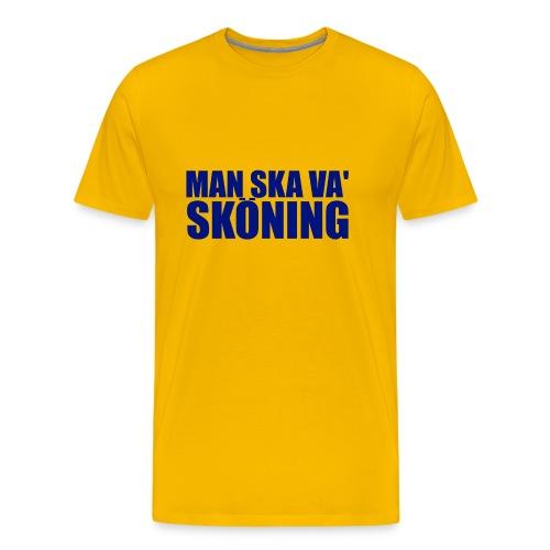skoningblue2 - Premium-T-shirt herr