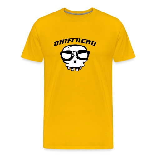 sticker driftnerd curved - Premium T-skjorte for menn