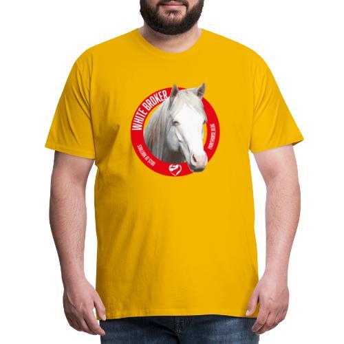 WHITE BROKER - Maglietta Premium da uomo