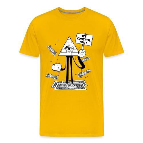 We Control You - Conspiration Design - T-shirt Premium Homme