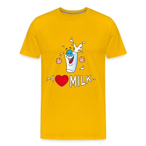 I love milk built this body Milch Kuh Stall Weide - Men's Premium T-Shirt