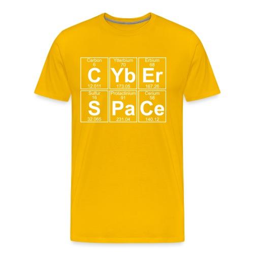 C-Yb-Er-S-Pa-Ce (cyberspace) - Full - Men's Premium T-Shirt