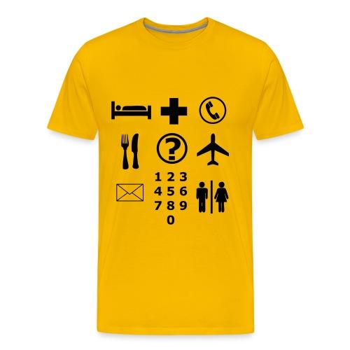 Picto T-shirt Vakantie Design - Mannen Premium T-shirt