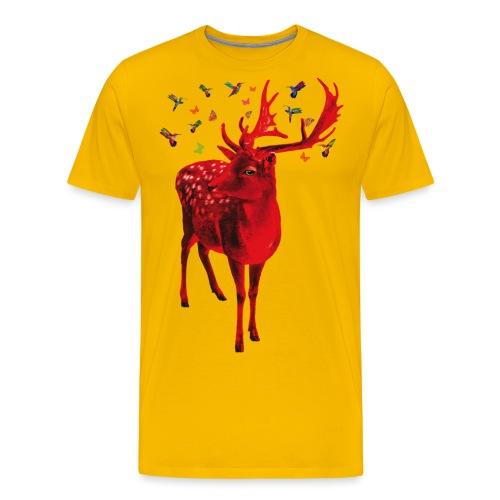 01 Schicker Hirsch rot Hirschgeweih - Männer Premium T-Shirt