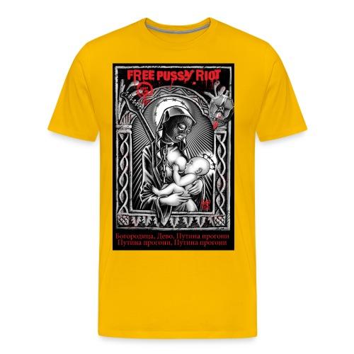 FreePussyRiotSteff jpg - Männer Premium T-Shirt