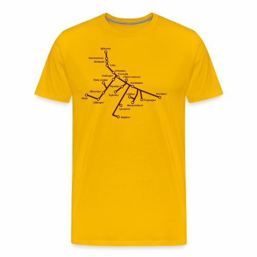Lisch Tisch Hoods - Premium-T-shirt herr