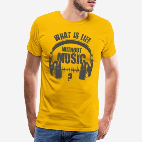Musik ist Leben - Männer Premium T-Shirt