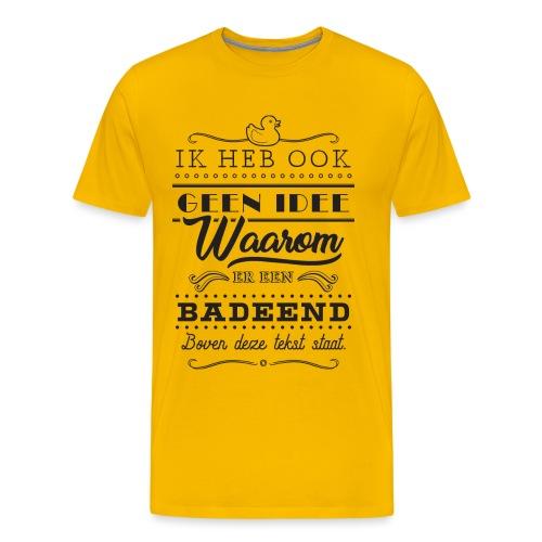Badeend - Mannen Premium T-shirt