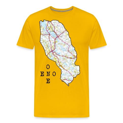 Eno/One maailmankartalle - Miesten premium t-paita
