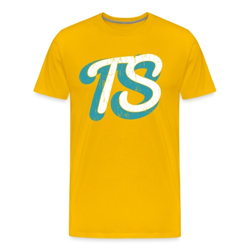 Watermerk Turquose png - Mannen Premium T-shirt