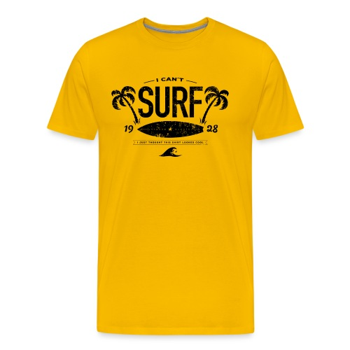 I can t Surf - Mannen Premium T-shirt