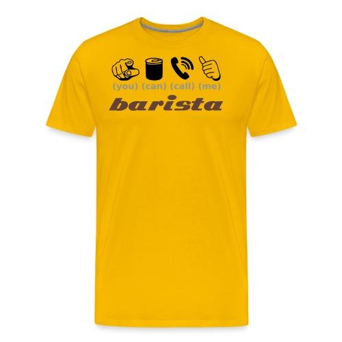 barista - Männer Premium T-Shirt