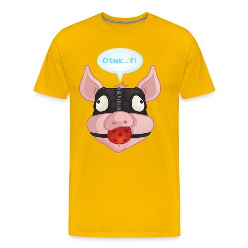 Oink M - Herre premium T-shirt