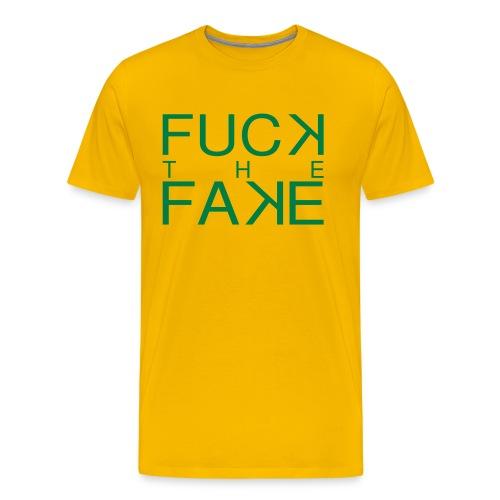 fuck_the_fake - T-shirt Premium Homme