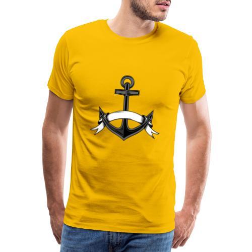 Anker mit Spruchband - Männer Premium T-Shirt