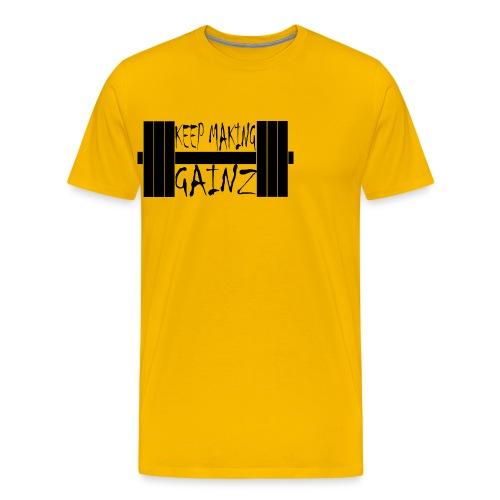 Weight + Text - Men's Premium T-Shirt