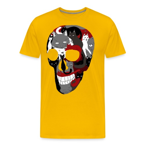 Crâne of the cat - T-shirt Premium Homme
