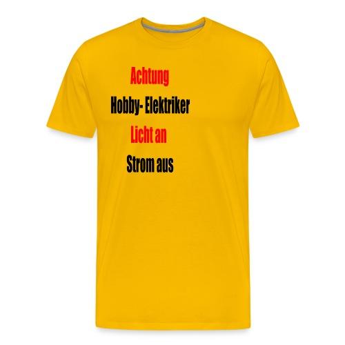 Hobby Elektriker1 - Männer Premium T-Shirt