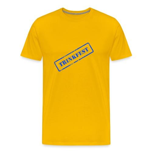 Stempel Trinkfest Blau - Männer Premium T-Shirt
