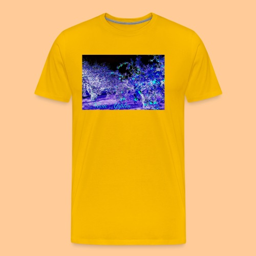 Neon Apples/purple cyan blue - Premium T-skjorte for menn