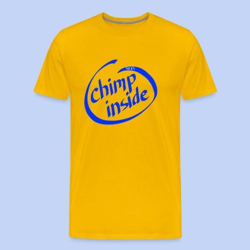 Chimp inside (blue) - Men's Premium T-Shirt