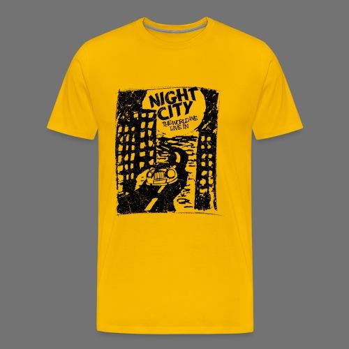 Night City (1c valkoinen) - Miesten premium t-paita