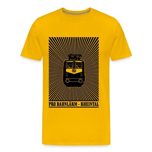 Pro Bahnlärm kommt - Männer Premium T-Shirt