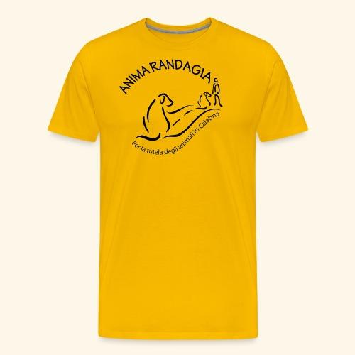 Logo Anima Randagia Nero - Maglietta Premium da uomo