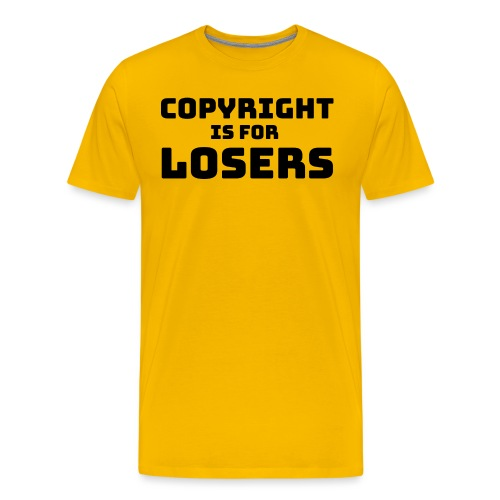 COPYRIGHT IS FOR LOSERS - Mannen Premium T-shirt
