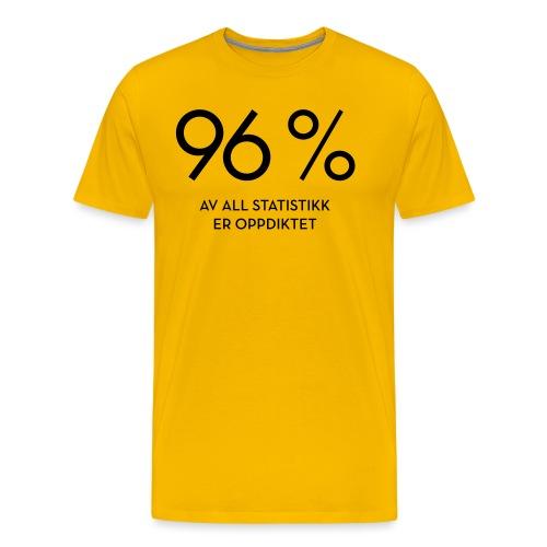 Statistikk-sprøyt (fra Det norske plagg) - Premium T-skjorte for menn