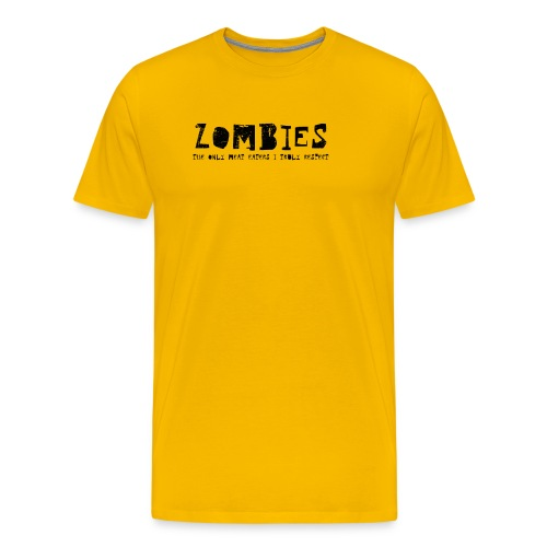 zombies1 svart text - Premium-T-shirt herr