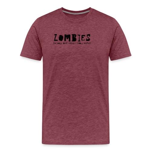 zombies1 svart text - Premium-T-shirt herr