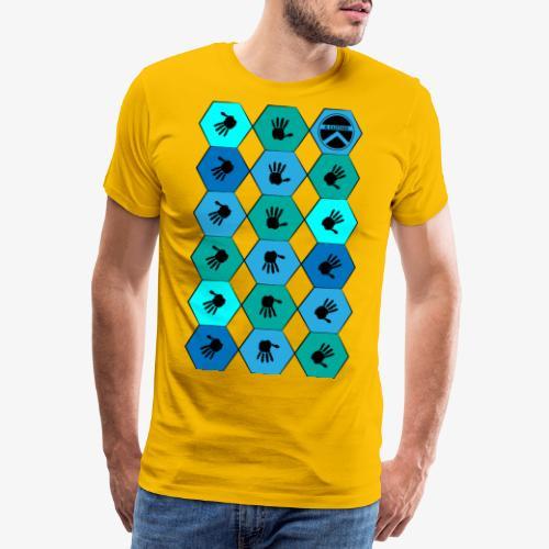  K·CLOTHES  HEXAGON ESSENCE BLUES - Camiseta premium hombre