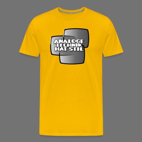 Analoginen tekniikka on tyyliä - Miesten premium t-paita