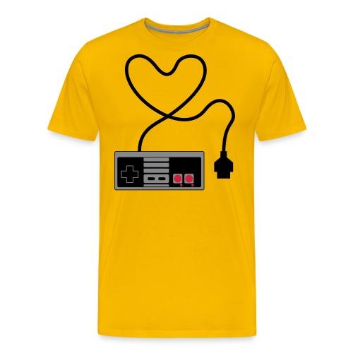 NES Controller Heart - Men's Premium T-Shirt
