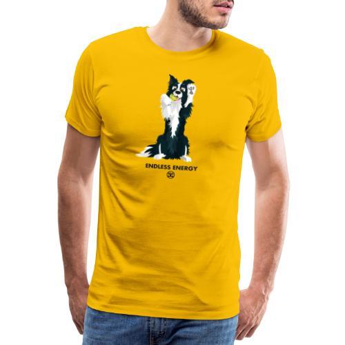 Bordercoll Front and back - Men's Premium T-Shirt